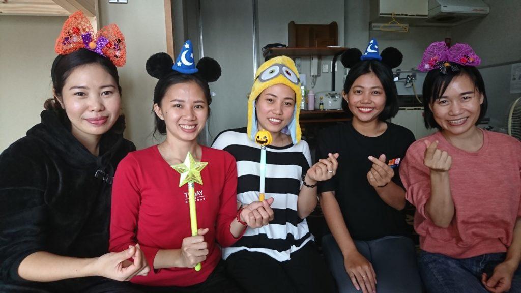 ベトナムの技能実習生のハロウィンパーティー